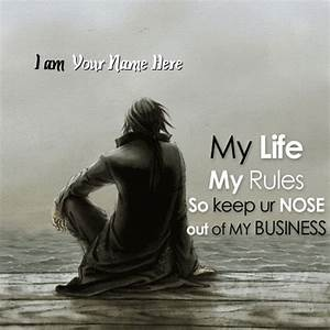 My Life My Rules Image With Name