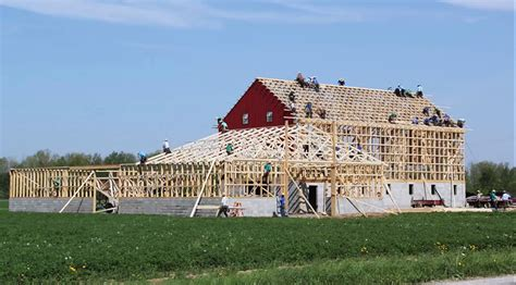 Amish Barn Raising by Amish Barn Raisings Are Awesome Especially For What You