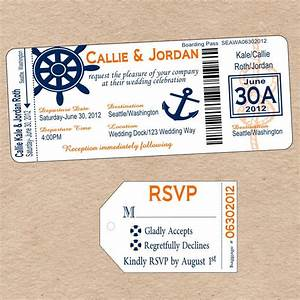 nautical boarding pass invitation matching luggage tag With free printable boarding pass wedding invitations