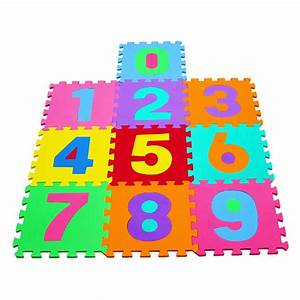36pc interlocking eva kids floor play mat alphabet and for Baby care play mat letters numbers grey large