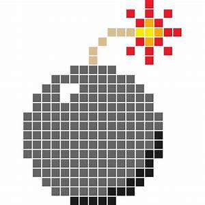 Pixel Art Bombe : pixel art bombe ~ Melissatoandfro.com Idées de Décoration