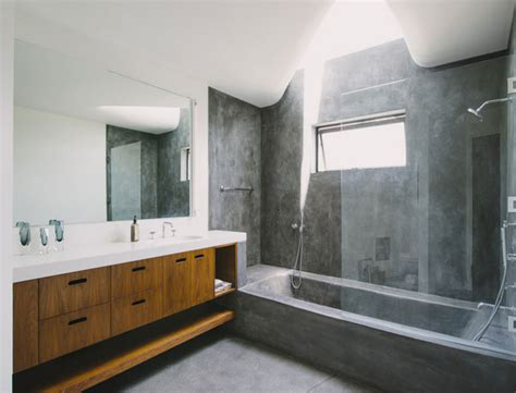 white precast concrete fireplace unique bathtub and shower combo designs for modern homes
