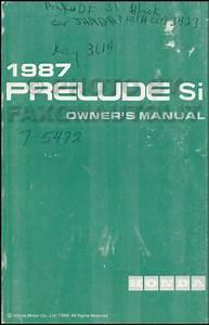 1987 Honda Prelude Electrical Troubleshooting Manual Original