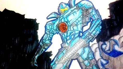 dibujando al jaeger gipsy danger de titanes del pacifico