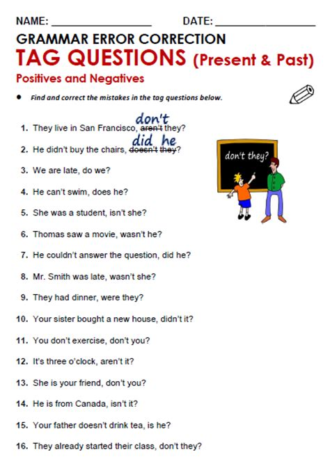 tag questions all things grammar