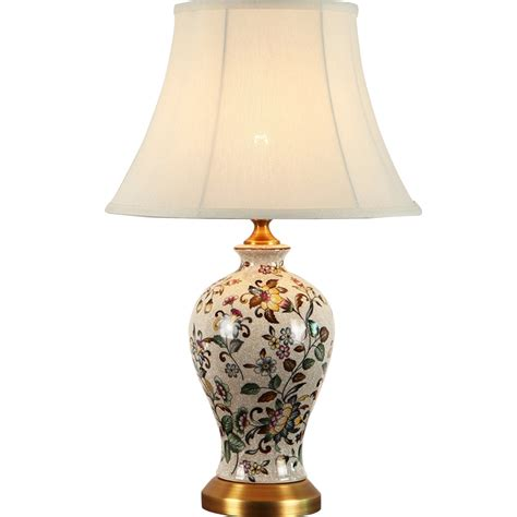 new classical painted ceramic fabric led e27 table l for living room study