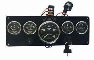 Black Yanmar Marine Instrument Panel  Black Gauges 14 U2033 X 5