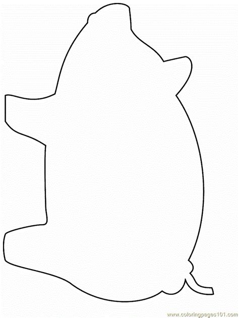 pig coloring page  simple shapes coloring pages