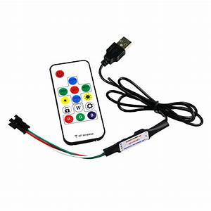 2812 Led Controller Dimmer 5v Rf Wireless Remote Control