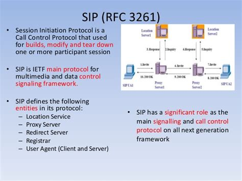 sip signaling evaluation dccp ict4 session