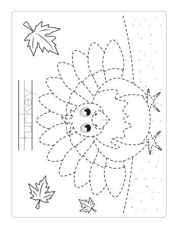 thanksgiving tracing worksheets itsy bitsy fun