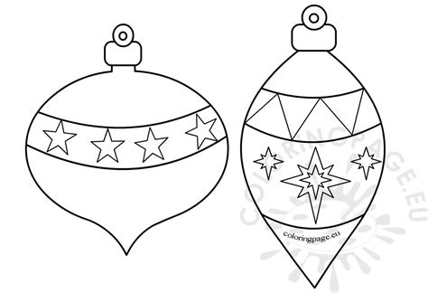 printable christmas ornaments to color coloring page