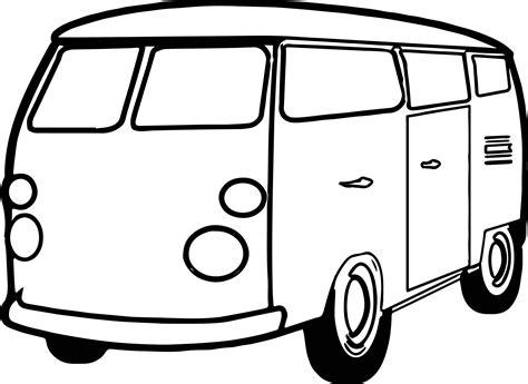 van minibus coloring page wecoloringpagecom