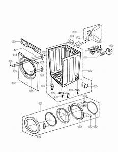 Cabinet And Door Assembly Parts Diagram  U0026 Parts List For Model Dle2140w Lg
