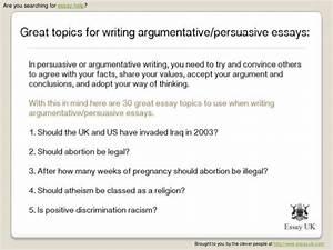 english persuasive essay topics higher english persuasive essay  argumentative essays  purdue writing lab