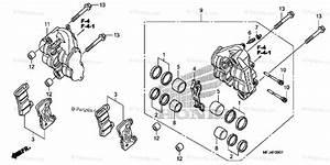 Honda Motorcycle 2009 Oem Parts Diagram For Front Brake