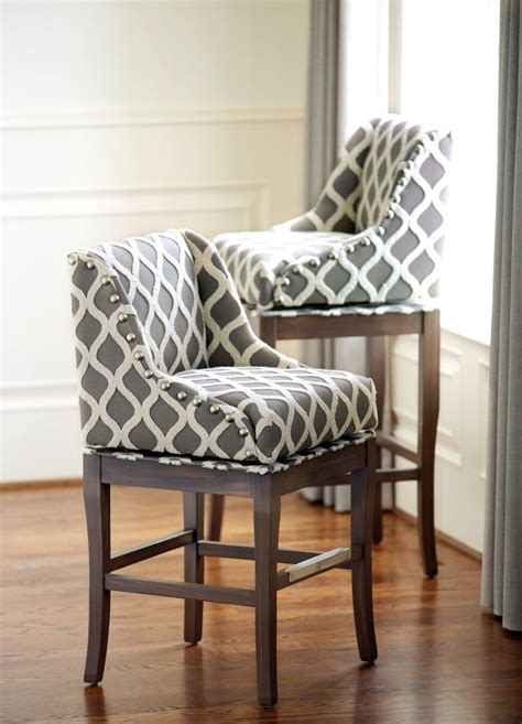 Kitchen Chair Upholstery by Gray And Upholstered Barstools Kitchen Home