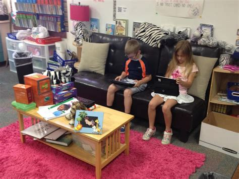 comfy seating school digital classroom setup ideas