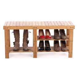 Rustic Mudroom Bench by Entryway Storage Bench Shoes Boots Bamboo Seat Closet