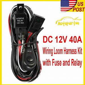 Universal Wiring Kit Fog Light Driving Lamp Wiring Harness