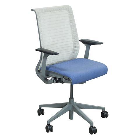 steelcase think used mesh back conference chair lavender