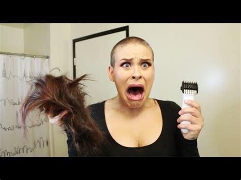 shaving my head youtube