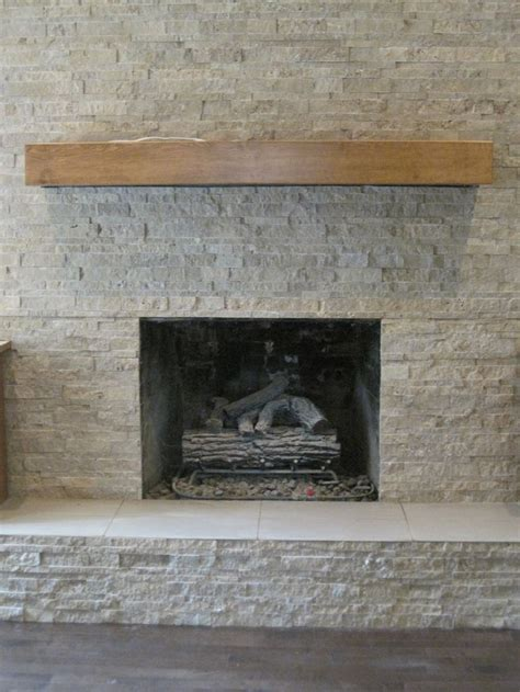 stack rock fireplace stacked fireplace all about the tile