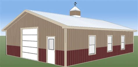 Pole Barn Color Selector by Steel Building Colors Steel Building Kits Worldwide