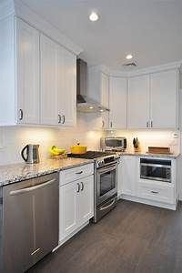 White, Shaker, Kitchen, Cabinets