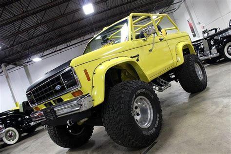 ford bronco ii yellow chop top bronco ii corral