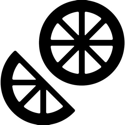 lime slice silhouette rodajas de lim 243 n iconos gratis de comida