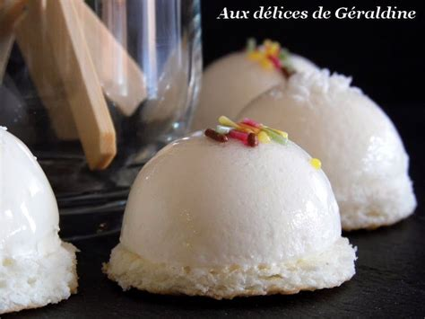aux d 233 lices de g 233 raldine mini bavarois mousse ananas sur biscuit noix de coco desserts