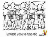 Palace Buckingham Coloring Pages Army Colouring Guard Military Boys Soldier Template Printables Guards Yescoloring Brawny sketch template