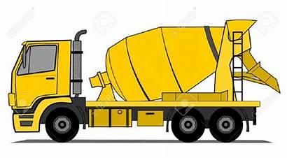 Cement Mixer Concrete Truck Clipart Construction Vehicle