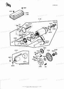 Kawasaki Motorcycle 1983 Oem Parts Diagram For Starter