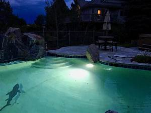 Landscape outdoor pool lighting electrical colorado