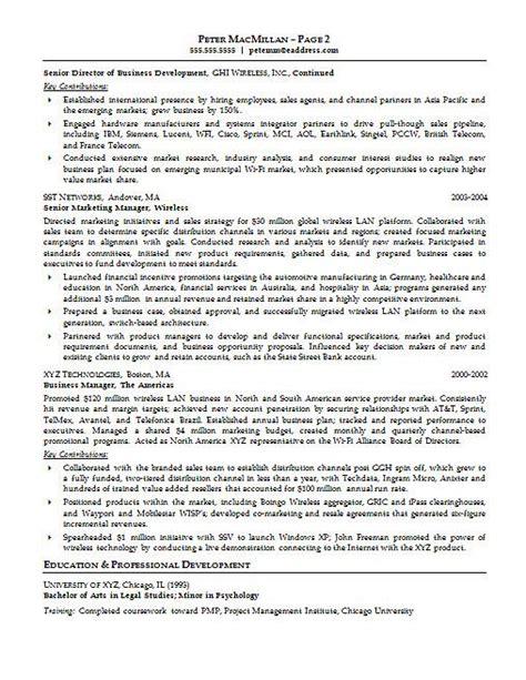 Exle Account Executive Resume by Account Executive Resume Exle
