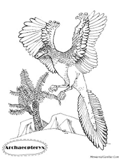 mewarnai gambar dinosaurus archaeopteryx mewarnai gambar