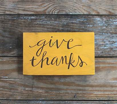 Thanks Give Sign Mustard Wooden Yellow Signs