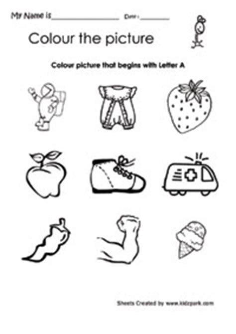 color  picture  begins  letter  english