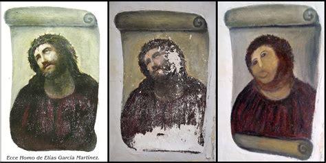 Fresco Jesus Meme - jesus ecce homo painting