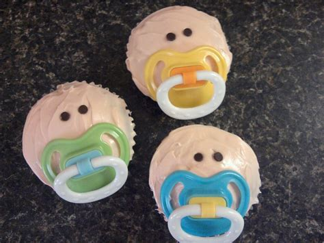 baby shower cupcakes with pacifiers entertaining 5 creative baby shower themes confessions
