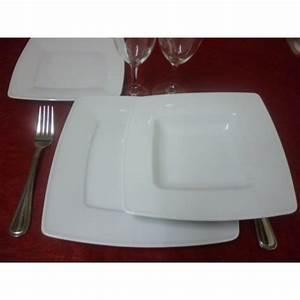 Assiette Creuse Blanche : assiette creuse carre vistoria en porcelaine blanche ~ Teatrodelosmanantiales.com Idées de Décoration