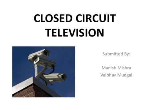 closed circuit televisioncctv