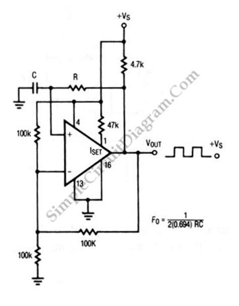Square Wave Oscillator Using Comparator Amp Simple