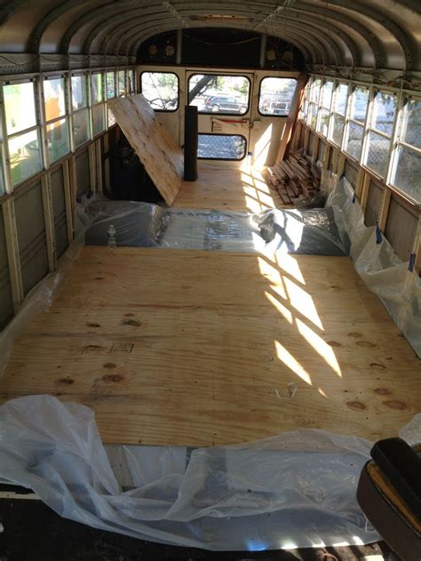 floor  installed tar paper  framing