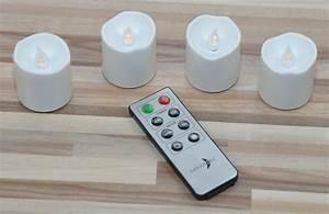 Led Kerzen Mit Timerfunktion : led kerzen 4er set mit fernbedienung timer inkl batterien ~ Whattoseeinmadrid.com Haus und Dekorationen