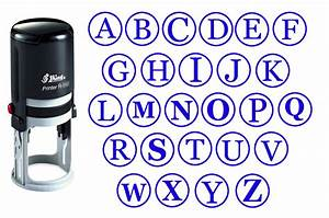 custom a z alphabet self inking initial monogram rubber With self inking letter stamps