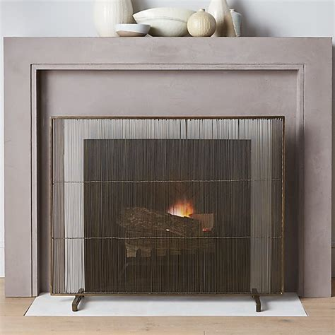 Antiqued Brass Fireplace Screen + Reviews | Crate and Barrel
