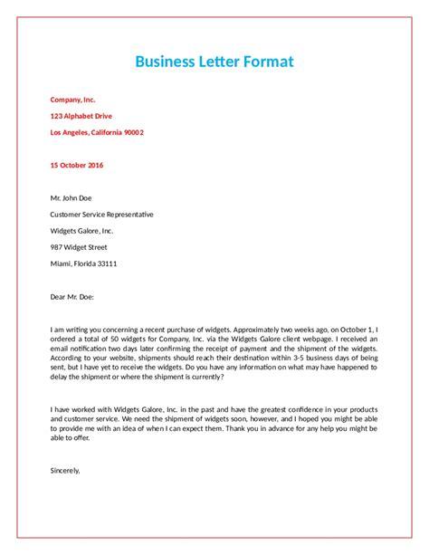 formal official letter format letters  sample letters